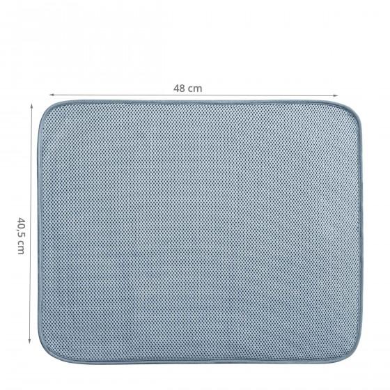 Tapis égouttoir gris en microfibre