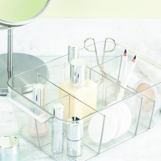 Bac de rangement maquillage transparent