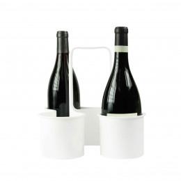 Panier à bouteilles en plastique blanc