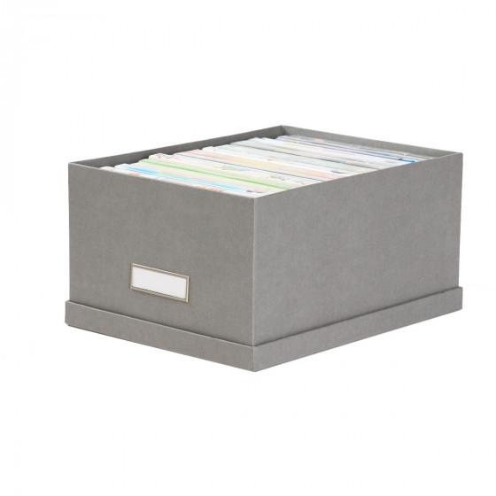 Boîte en carton gris flanelle