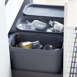 Rangement déchets et produits d'entretien